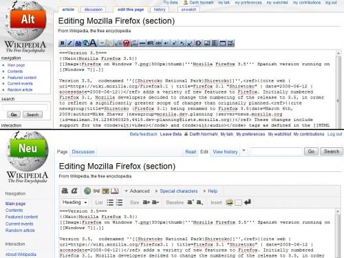 Ein aufgeräumter und deutlich verbesserter Rich-Text-Editor im Einsatz.