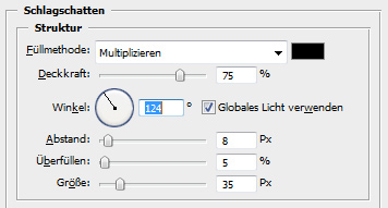 Schatten in Photoshop