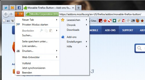 Movable Firefox Button