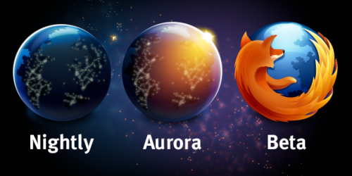 Firefox Channel-Auswahl