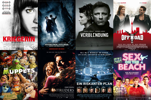 Kriegerin, Sherlock Holmes 2, Verblendung, Offroad, Muppets, Intruders, Ein Riskanter Plan, Sex on the Beach