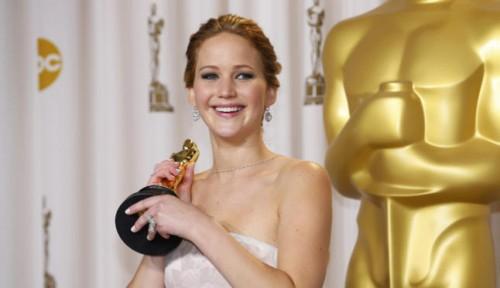 Jennifer Lawrence als frische Oscargewinnerin