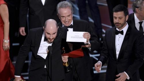 Peinliche Panne bei den Oscars, der falsche Film wurd gekührt!